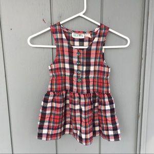 Vintage Alyssa Plaid Jumper Dress Size 4